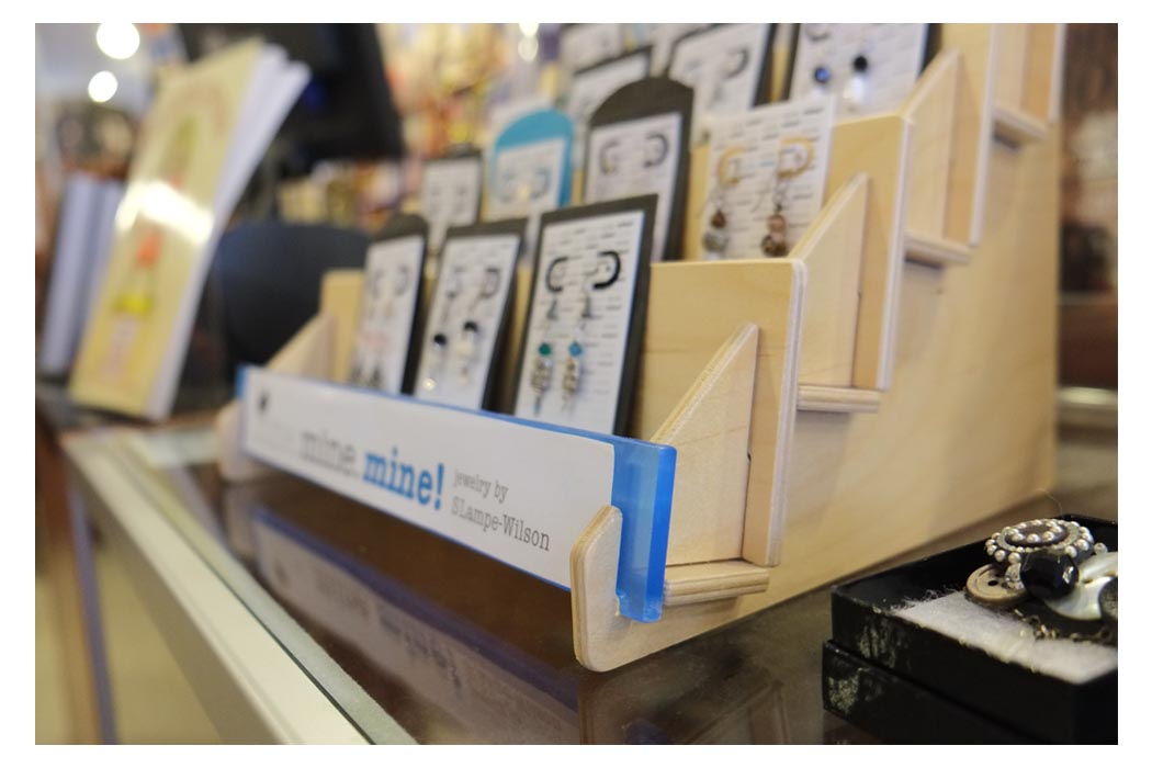 Wooden countertop displays from clear solutions organize your books cards and other objects with our sturdy elegant wooden displays m4hsunfo