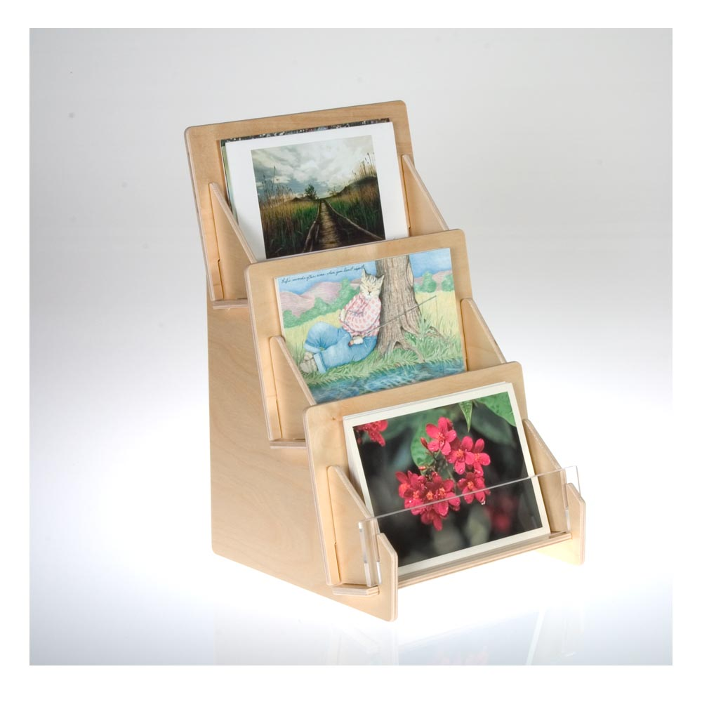 Postcard display racks and holders from clear solutions show off your postcards and other print materials with our elegant clear acrylic or birch plywood displays m4hsunfo